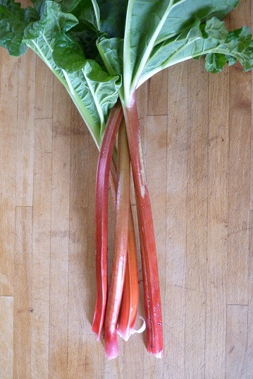 Rhubarb with Strawberry Gin