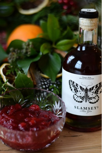 Cranberry Sauce with Sloe Gin