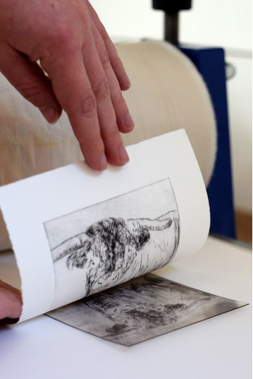 Beginners Drypoint Etching