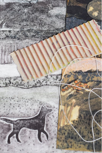 Beginners Collagraph