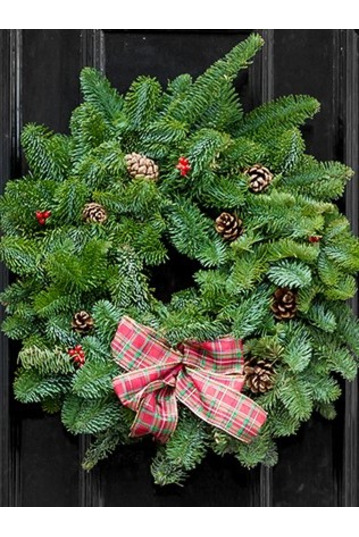 Plain and Decorated Fresh Wreaths